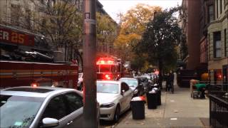 FDNY RESPONDING & ON SCENE OF SMOKE CONDITION ON W. 75TH ST. ON WEST SIDE OF MANHATTAN, NEW YORK.