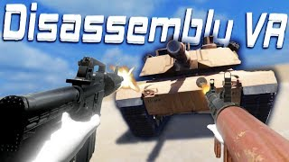 Ripping Apart An Entire Tank! - Crashing Helicopters, Demolishing Towers and More! - Disassembly VR