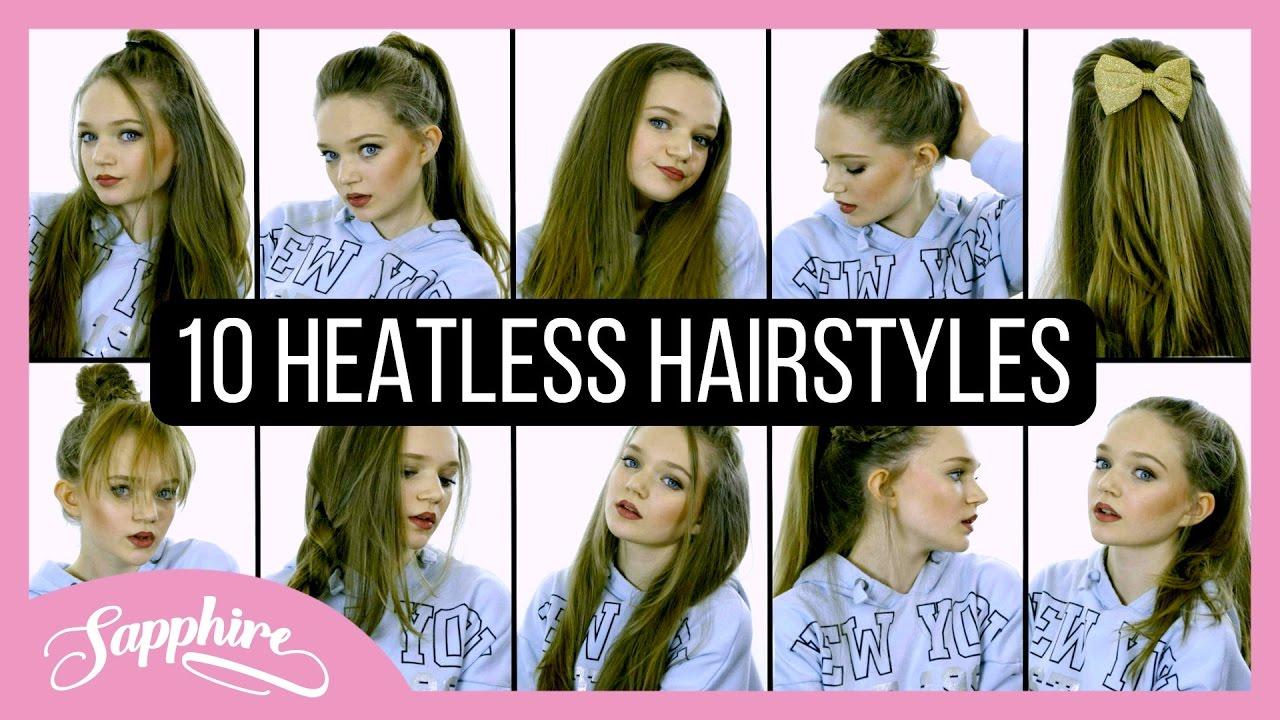Heatless Hair Styles: 10 Heatless Hairstyles 💇🏼