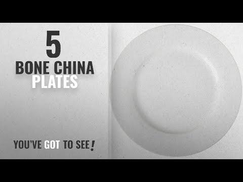 Best Bone China Plates [2018]: AmazonBasics 6-Piece Dinner Plate Set