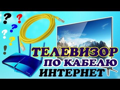 Подключить телевизор к роутеру через кабель видео урок