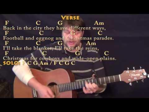 Christmas For Cowboys (John Denver) Strum Guitar Cover Lesson with Chords/Lyrics - Capo 5th