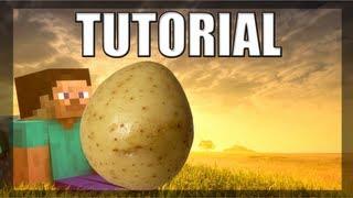 Minecraft Tutorial - Como Construir e Morar em sua própia Batata