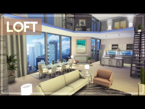 GIRLY MINIMAL LOFT + TOUR + CC LINKS | The Sims 4 Luxury Penthouse/Loft Build