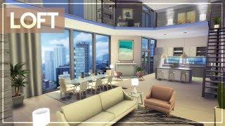 GIRLY MINIMAL LOFT + TOUR + CC LINKS   The Sims 4 Luxury Penthouse/Loft Build