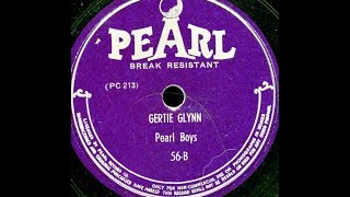 """Gertie Glynn"" Pearl Trio (1947 Pearl) = Larry Vincent = party record"