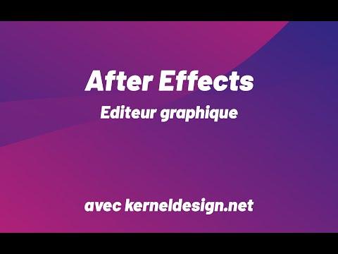 Editeur graphique Adobe After Effects
