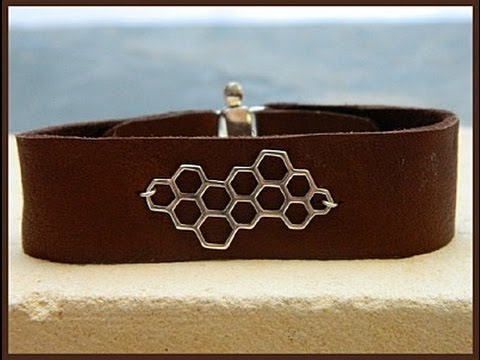 Jewelry How To - Make Leather Cuff Bracelets
