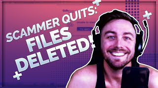 120,000 FILES GONE! APPLE SCAMMER QUITS