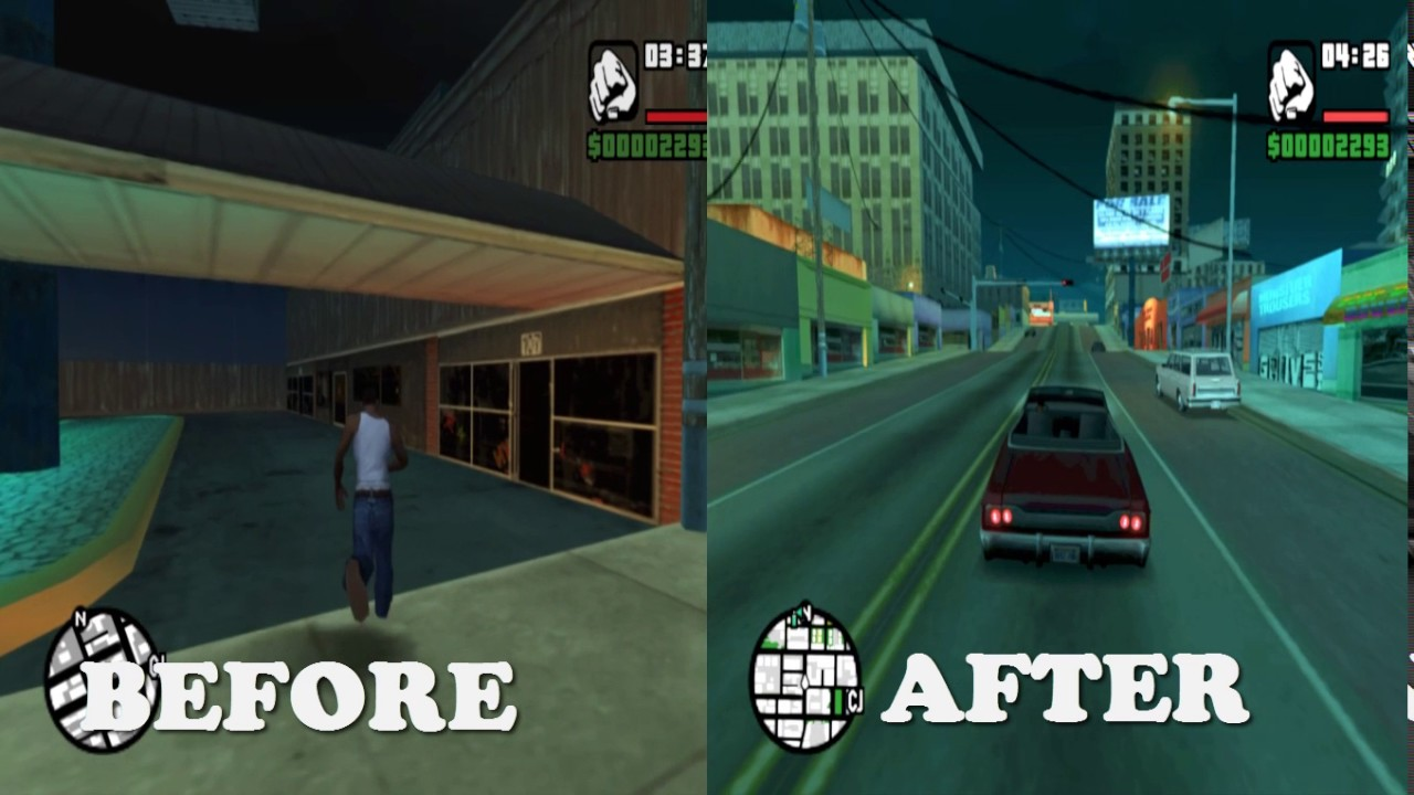 GTA San Andreas PCSX2 With Shaders Color Correction HD by hotman718