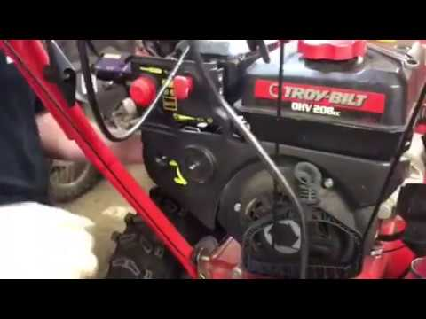 How to remove a carburetor Troy bilt storm 2620 snow thrower