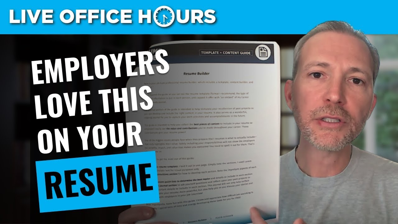 What Employers Look for in a Resume Live Office Hours Andrew