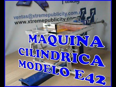 Xtreme Publicity Maquina Cilíndrica para Serigrafia E42 - plumas, vasos, tazas, cilindros, copas