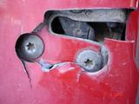 How To Fix Torn Metal Around Door Latch 1998 Jeep Grand Cherokee Youtube