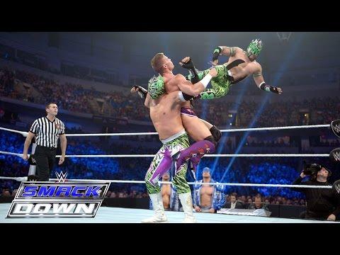 Cesaro & Tyson Kidd vs. The Lucha Dragons – Tag Team Lumberjack Match: SmackDown, May 28, 2015