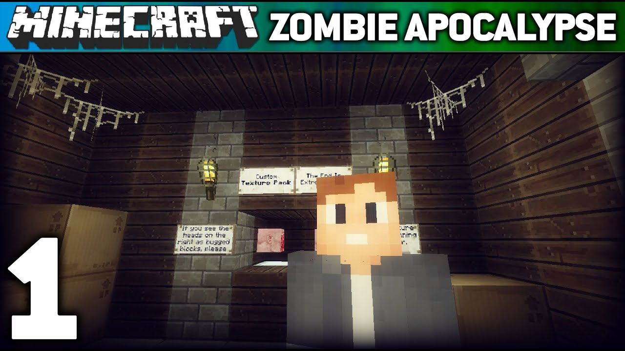 ZOMBIE APOCALYPSE #1 (Minecraft Adventure Map) - YouTube