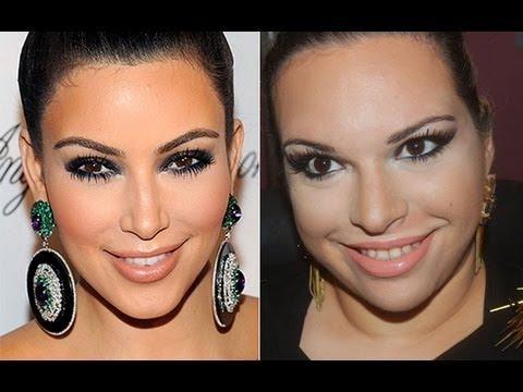 Kim Kardashian Makeup Tutorial Contouring & Highlighting - YouTube