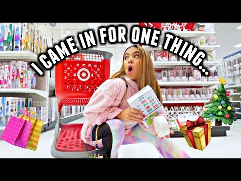 OBSESSED WITH TARGET! Target with Adelaine! | Vlogmas day 14