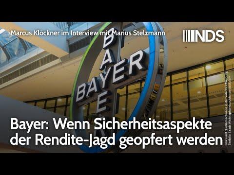 Bayer: Wenn Sicherheitsaspekte der Rendite-Jagd geopfert werden   Interview mit Marius Stelzmann