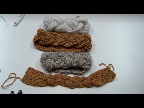 CROCHET TUTORIAL TIME: BRAIDED EARWARMER/HEADBAND - YouTube