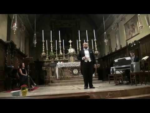 tenore matteo bertarelli concerto Chiesa S. Lorenzo Ponderano Recitar...Vesti la giubba - Agnus Dei