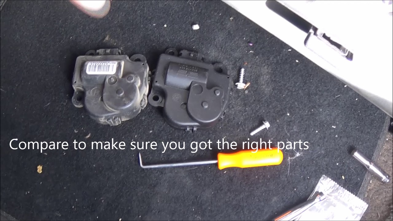 2006 2016 Chevrolet Impala A C Actuator Replacement Youtube