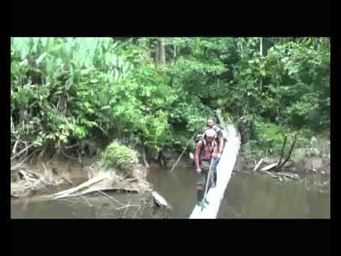 """""""Walking on the jungle - river crossing"""" (www.omshanty.com)"""