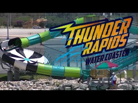 Thunder Rapids Water Coaster at Six Flags Fiesta Texas