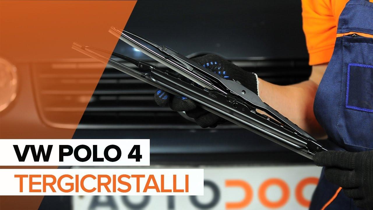 Cambio tergicristalli anteriori VW Polo | Tutorial HD - YouTube