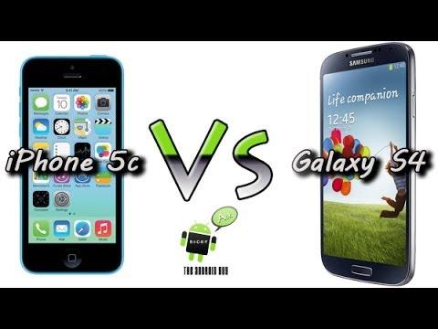 iPhone 5c vs Galaxy S4 (Comparison) - YouTube
