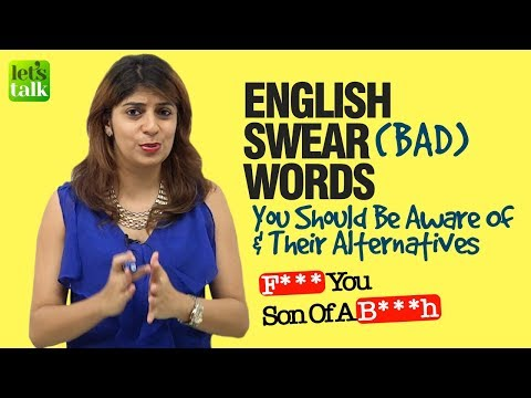 English Swear Words You Should Be Aware Of | English Speaking Lesson | Learn English With Niharika thumbnail