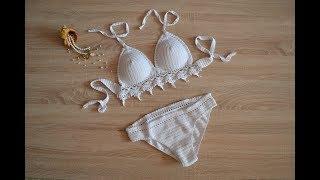 Купальник крючком / лиф крючком / трусики крючком (Crochet swimsuit)