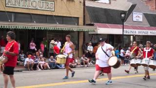 Drum Line  at the 2015 Clarksville, VA 4th of July Parade