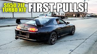 FIRST PULLS in the eBay turbo Supra!! (NA-T Build)