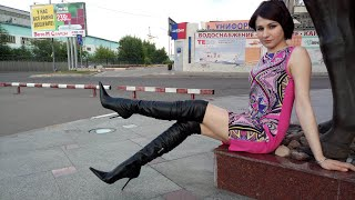 3 GIRLS TRAMPLE WITH THIGH HIGH BOOTS VIP