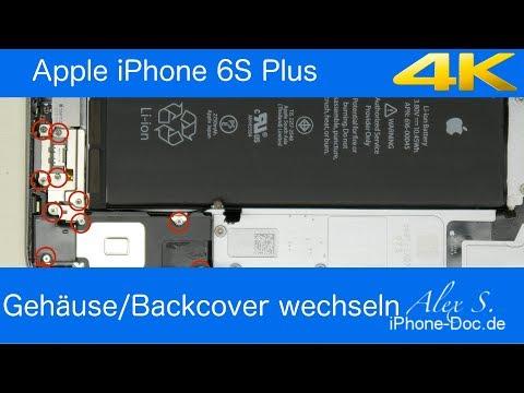 IPhone 6S Plus Backcover, Gehäuse, Rückseite wechseln, tauschen, umbauen, Deutsch, reparieren
