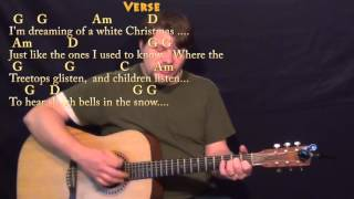 White Christmas (Christmas Songs) Strum Guitar Cover Lesson in G with Chords/Lyrics