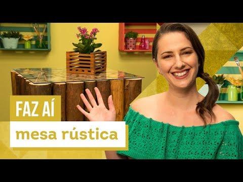 Mesa de centro rústica - DIY com Karla Amadori - CASA DE VERDADE