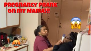 I'M PREGNANT PRANK ON MY MAMA😱‼️ (SHE PUTS ME OUT!!!)