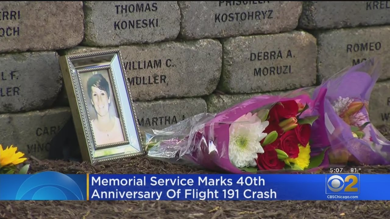Memorial Service Marks 40th Anniversary Of Flight 191 Crash Youtube