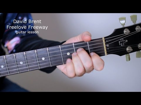 David Brent Freelove Freeway Guitar Lesson (how to play Free Love Freeway tutorial) The Office TV