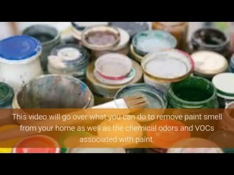 how to remove paint smell youtube. Black Bedroom Furniture Sets. Home Design Ideas