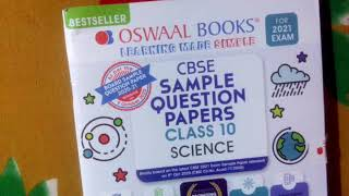Oswaal Books CBSE Sample Question Papers Class 10 Science Review and Unboxing 2021