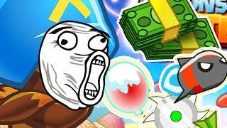 DOUBLE CASH & EXTRA POWER UPS MODE!? - BLOONS TOWER DEFENSE BATTLES