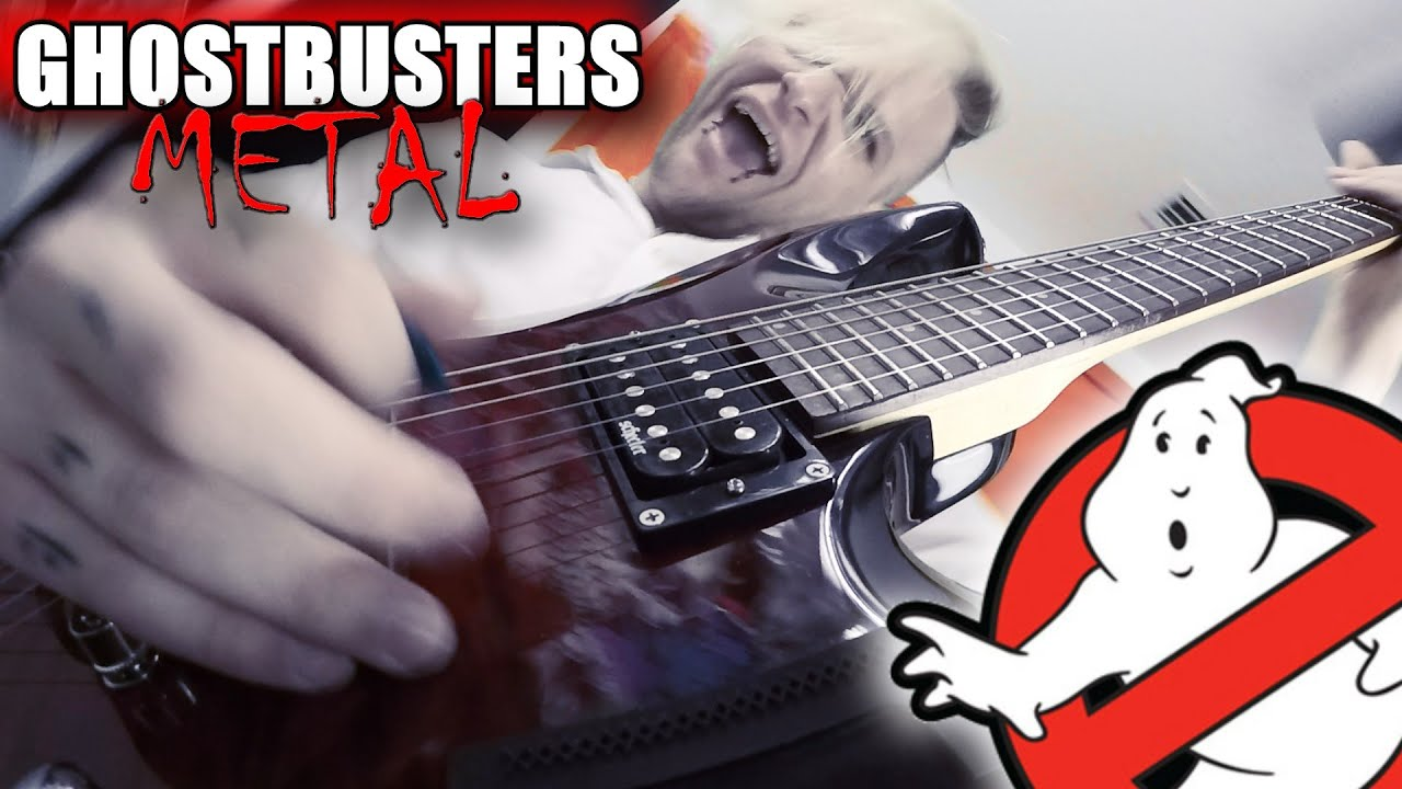 Download Ghostbusters Theme HARDCORE METAL Cover by MARYJANEDANIEL (Guitar Headstock Cam)