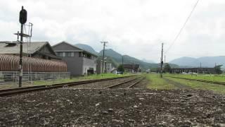 豊後森駅到着シーン.