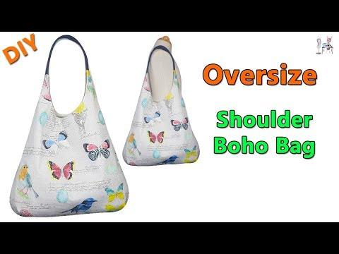 DIY OVERSIZE SHOULDER BOHO BAG   BOHO BAG   DIY BAG   SHOULDER BAG   BAG MAKING TUTORIAL