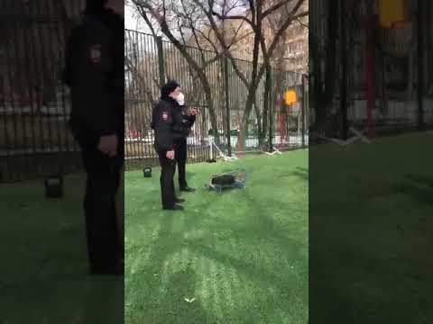 Полицейские при помощи