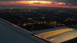 YYZ HD Air Canada E175 Landing Sunset Toronto Pearson International  Airport Embraer