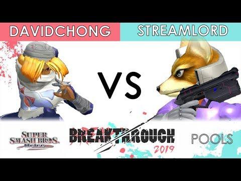 Breakthrough 2019 - AmericanDragon_DavidChong (Sheik) VS 20XX | Streamlord (Fox) - SSBM Pools
